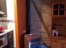 Estufa de pellets instalada en Vitoria