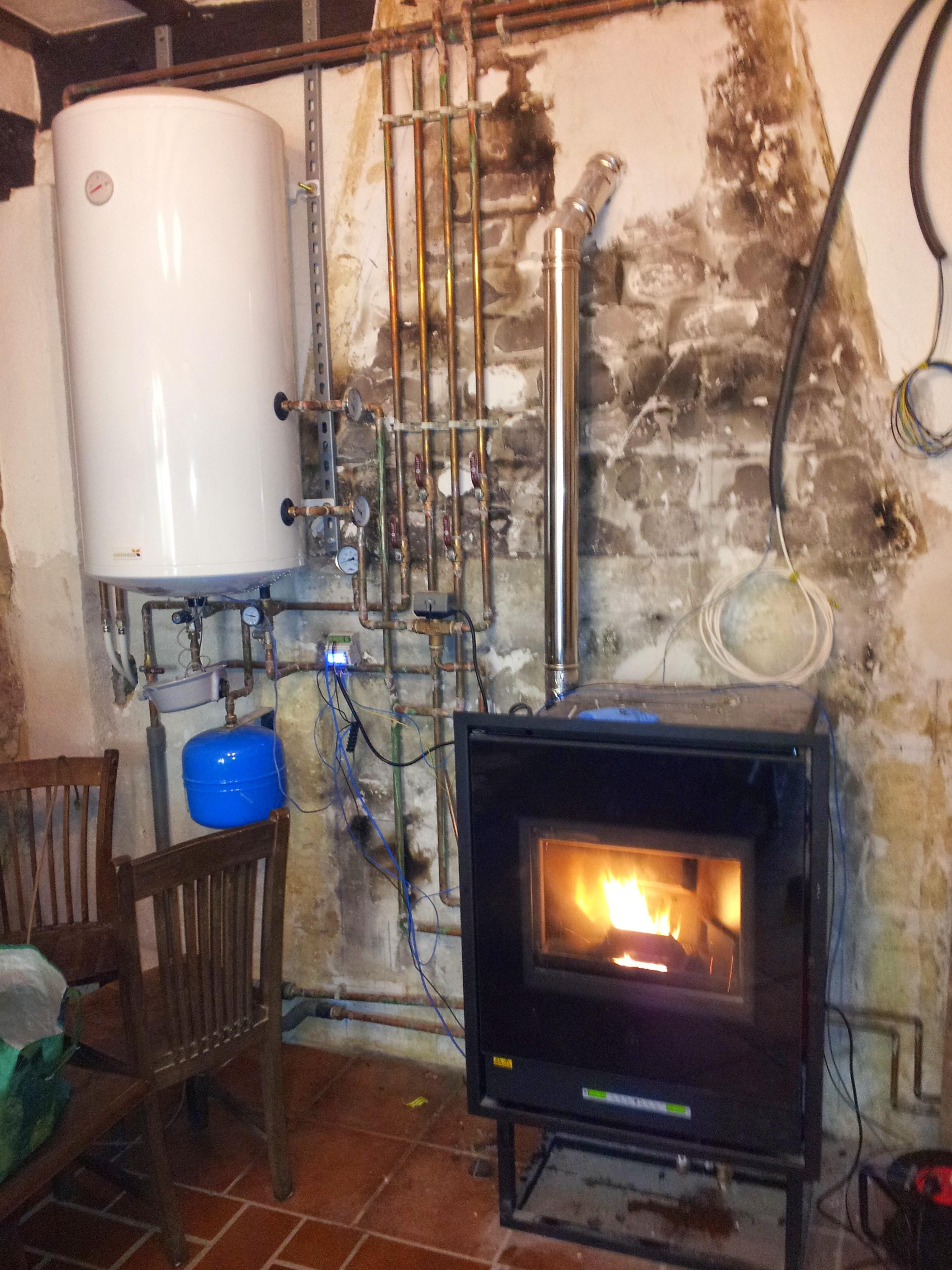 Fontaner a y calefacci n de pellets - Calefaccion por chimenea ...